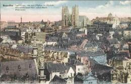 BRUXELLES - Panorama, Vue Sur L'Eglise Ste-Gudule - Edition Desaix - Panoramische Zichten, Meerdere Zichten