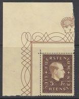 Liechtenstein 1939 Definitive / Fürst Franz Josef II  1v (corner)  ** Mnh (42180) - Liechtenstein
