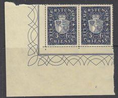 Liechtenstein 1939 Definitive / Landeswappen 1v (pair) ** Mnh (42180B) - Liechtenstein