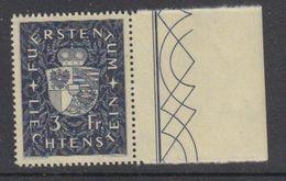 Liechtenstein 1939 Freimarken 3Fr (+margin) ** Mnh (42181) - Liechtenstein