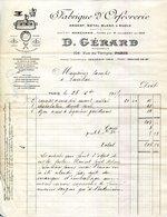 PARIS.FABRIQUE D'ORFEVRERIE ARGENT,METAL BLANC & RUOLZ.D.GERARD 104 RUE DU TEMPLE. - Unclassified