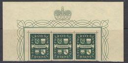 Liechtenstein 1939 Definitive / Landeswappen 1v Strip Of 3 ** Mnh  (42181B) - Liechtenstein