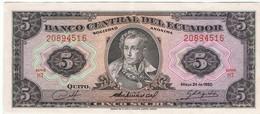 EQUATEUR - Billet De 5 Sucres - 24/05/1980 - Ecuador