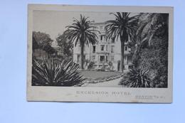 MENTON      EXCELSIOR  HOTEL  AVENUE  CARNOT    3 SCANS - Publicités