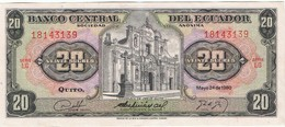 EQUATEUR - Billet De 20 Sucres - 24/05/1980 - Ecuador