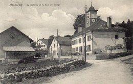 Suisse -MAUBORGET - 'Le Collège Et Le Haut Du Village'. - VD Vaud