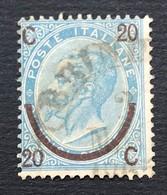 Regno 20 Cent Ferro Di Cavallo I Tipo Annullo Borbonico Brindisi - 1861-78 Vittorio Emanuele II