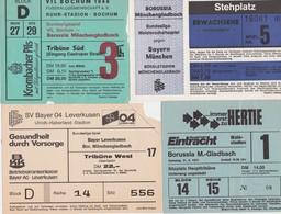 TICKET-VOETBAL-FOOTBALL-LOT-BORUSSIA MONCHENGLADBACH-FRANKFURT+BAYER+BOCHUM+BAYERN-'70-BON ETAT-VOYEZ LES 2 SCANS-TOP! - Tickets D'entrée