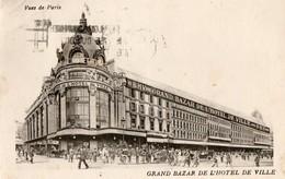 Magasin. CPA. Accusé De Réception Lettre. GRAND BAZAR DE L'HOTEL DE VILLE. 1929. Scan Du Verso. Vues De Paris. - Magasins