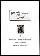 Feuillet Du Catalogue Phil@Brogne - Signé Par M. André BUZIN - 1985-.. Vogels (Buzin)