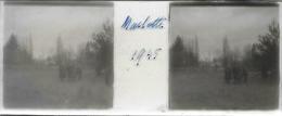 Plaque De Verre Stéréoscopique Positive - Année 1945 - Bourron Marlotte - Plaques De Verre