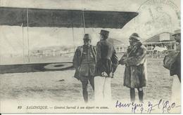 ARMEE D'ORIENT-SALONIQUE-CACHET MILITAIRE-Général Sarrail à Son Départ En Avion - Grecia