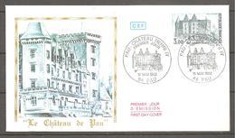 FDC 1982  LE CHATEAU DE PAU - FDC