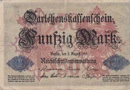 ALLEMAGNE 50 MARK 1914 - [ 2] 1871-1918 : Duitse Rijk
