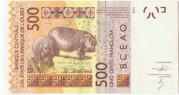 COTE D'IVOIRE - B.C.E.A.O -Billet De 500 Francs CFA - 2012 - Série B - Costa D'Avorio