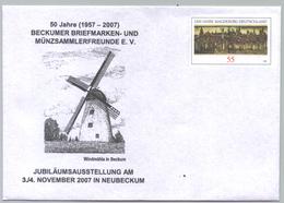 Deutschland GS 'Windmühle Beckum' / Germany PSE 'Beckum Windmill' **/MNH 2007 - Moulins