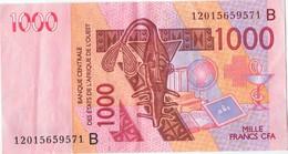 COTE D'IVOIRE - B.C.E.A.O -Billet De 1000 Francs CFA - 2003 - Série B - Côte D'Ivoire