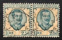 Regno, 2,50 Lire Floreale 1926, Coppia Usata - Usati