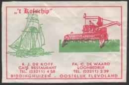Netherlands, Flevoland, Sugar Bag, Suikerzakje, ' T Kofschip, Biddinghuizen - Suiker