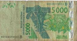 COTE D'IVOIRE - B.C.E.A.O -Billet De 5000 Francs CFA - 2003 - Série B - Côte D'Ivoire