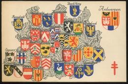 "1935  ""Carte Postale""  ""Antituberculeux""  Province : Antwerpen - Stamped Stationery"