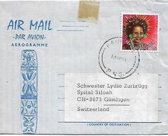 PAPUA NEW GUINEA 1981 AEROGRAMME Sent To Rothrist1 Stamp COVER USED - Papua New Guinea
