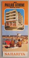 MOTEL HOTEL REST HOUSE PENSION INN PALLAS PALACE ATHENE NAHARIYA ORIGINAL VINTAGE BROCHURE ADVERTISING ISRAEL - Hotel Labels