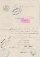 1888 - Harmonville 88 Près Neufchâteau / Autorisation Cafetier Babelot / Bal Des Conscrits / Papier Timbré 1885 - Documents