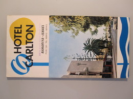 MOTEL HOTEL REST HOUSE PENSION INN CARLTON NAHARIYA ORIGINAL VINTAGE BROCHURE ADVERTISING ISRAEL - Hotel Labels