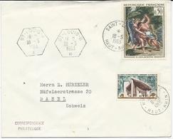 LETTRE 1963 AVEC 3 CACHETS DIFFERENTS DE SAINT LOUIS - Alsace Lorraine