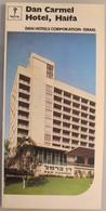 MOTEL HOTEL REST HOUSE PENSION INN DAN CARMEL HAIFA ORIGINAL VINTAGE BROCHURE ADVERTISING ISRAEL - Hotel Labels