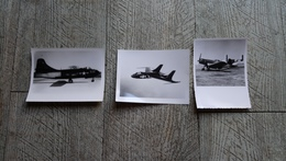 Lot 3 Photo Avion  Chance FGU1 Chasse Cutlass F402 Coursair Aviation Militaire USA - Aviation