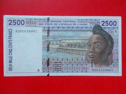 2500 FRANCS  -  AFRIQUE DE L'OUEST ( SENEGAL ) WEST AFRICAN STATES - Billets