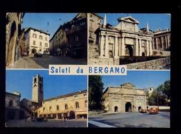 BERGAMO -SALUTI VEDUTINE-VIAGGIATA - Bergamo