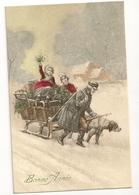 """1219-  Bonne Année - Attelage De Chien """" Style Vienne"""" - New Year"""