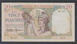 INDOCHINE    BANKNOTE  20$  Pick N° 56  XF  Ref N°443 - Indochina