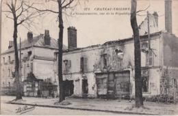 Bt - Cpa CHATEAU THIERRY (Aisne) - La Gendarmerie, Rue De La République (cachet Gare De ...) - Chateau Thierry