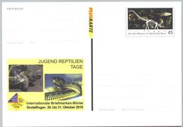 Deutschland GS 'Reptilien: Schildkröte Schlange Saurier' / Germany P.c. 'Reptiles: Tortoise Snake Dinosaur' **/MNH 2010 - BRD