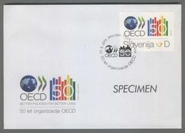 C4436 SLOVENIA FDC 2011 OECD 50 LET ORGANIZACIJE D - Slovenia