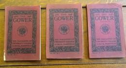3 Stuks  Magazine   THE  GOWER   University   HAMPSTEAD   1915 - Boeken, Tijdschriften, Stripverhalen