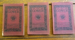 3 Stuks  Magazine   THE  GOWER   University   HAMPSTEAD   1915 - Andere
