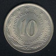 Jugoslawien, 10 Dinara 1980, UNC - Yugoslavia