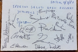 SPITTAL AUSTRIA  13/7/80 CANOA   GARA INTERNAZIONALE JUNIORES  CARTOLINA CON GLI AUTOGRAFI DEIPARTECIPANTI ALLA GARA - Francobolli