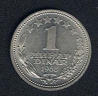 Jugoslawien, 1 Dinar 1968, UNC - Yugoslavia