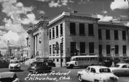 "07729 ""PALACIO FEDERAL - CHIHUAHUA - CHIH. - MESSICO ""AUTO E BUS ANNI '40/'50, CART. ORIG. SPED. '954 - Messico"