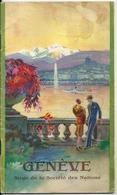 Brochure Touristique Genève Siège De La Société Des Nations 1920-1930 Monuments Excursions Commerçants Industriels... - Dépliants Touristiques
