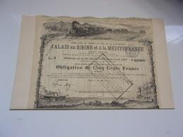 Compagnie De Chemin De Fer Et De Navigation D'alais Au Rhone Et A La Méditérranée (1882) - Non Classés