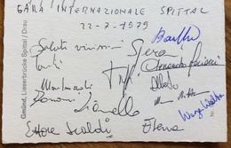 CANOA  SPITTAL AUSTRIA  22/7/79  CANOA   GARA INTERNAZIONALE   CARTOLINA CON GLI AUTOGRAFI DEIPARTECIPANTI ALLA GARA - Francobolli