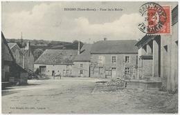 52 ESNOMS AU VAL - La Place De La Mairie - Courcelles Val D'esnoms - Cpa Haute Marne - France