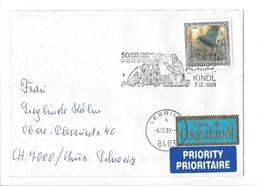 21635 - Austria Christkindl 1999 Lettre Pour Chur  07.12.1999  Priority + Vignette über Christkindl - Noël
